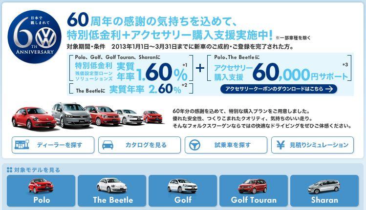 VW 60周年キャンペーン2