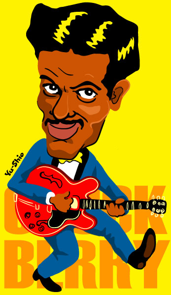 Chuck Berry caricature