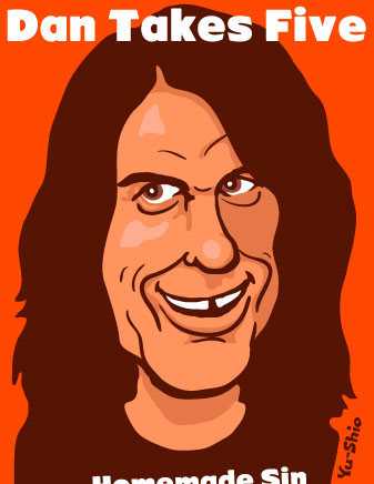 Dan Baird caricature
