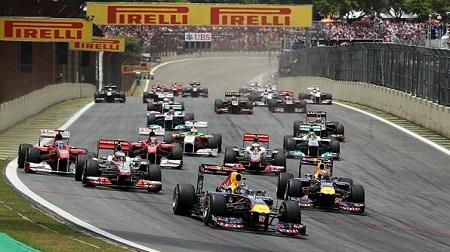 2011年F1ブラジルGPのスタート