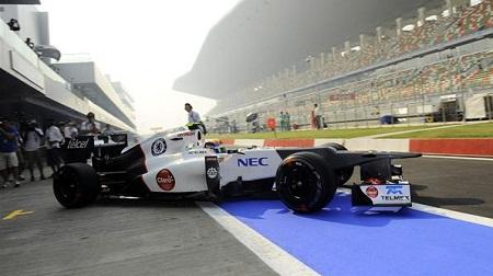 F1インドGPのFP1・ザウバーのグティエレス