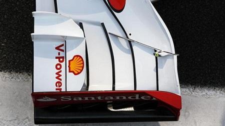 F1ブラジルGPのフェラーリのフロントウィング