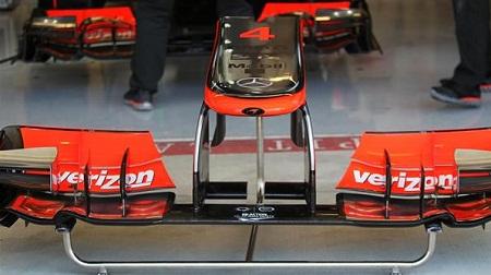 F1アメリカGPのマクラーレンのフロントノーズ