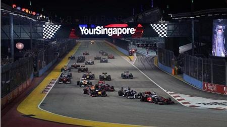 2012年F1シンガポールGPのスタート
