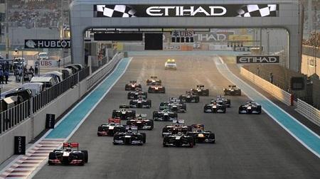 2012年F1アブダビのスタート