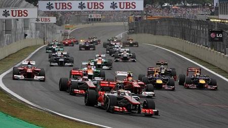 2012年F1ブラジルのスタート