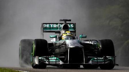 2013年F1第2戦のロズベルグ