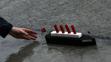F1日本GP雨天時のイカダ