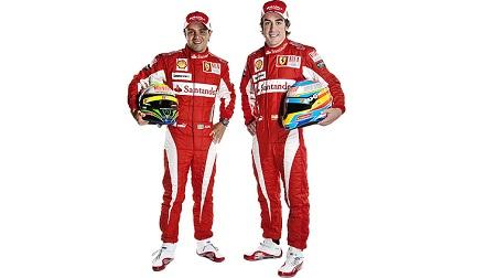 フェラーリの2013年版のチームウェア
