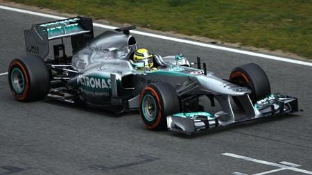 2013年F1バルセロナテスト1日目のロズベルグ