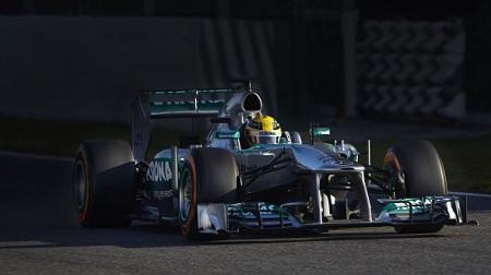 2013年F1バルセロナテスト4日目のハミルトン