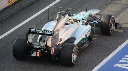 2013年F1バルセロナ2ndテスト4日目のロズベルグ