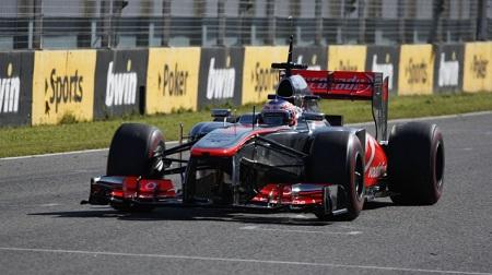2013年F1ヘレステスト1日目のバトン