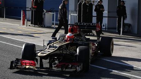 2013年F1ヘレステスト2日目のグロージャン