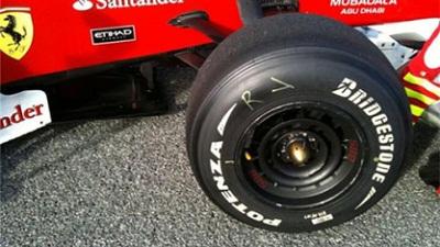 フェラーリのホイールカバー