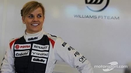 ウィリアムズの女性ドライバー、スージー・ヴォルフ