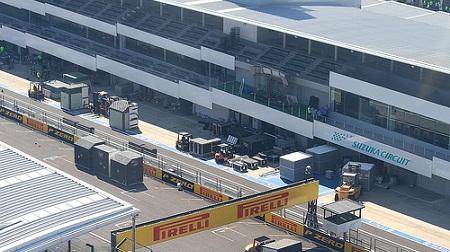 鈴鹿サーキットのガレージ