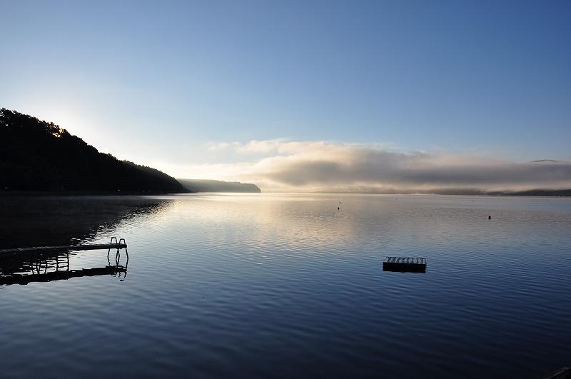 朝の山中湖朝の山中湖
