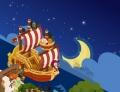 船と月 ①