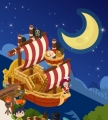 船と月 ②
