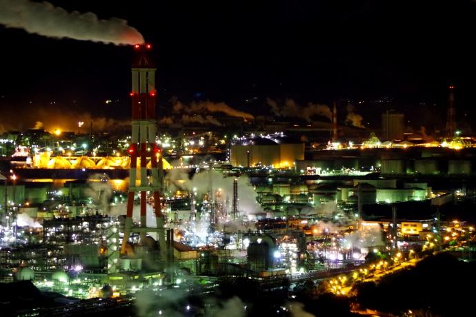 20121218工場夜景@水島