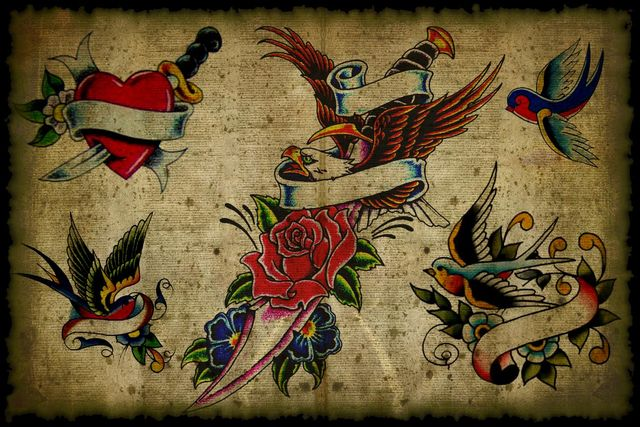 vintage_tattoo_flash_by_psycho1210 640x427
