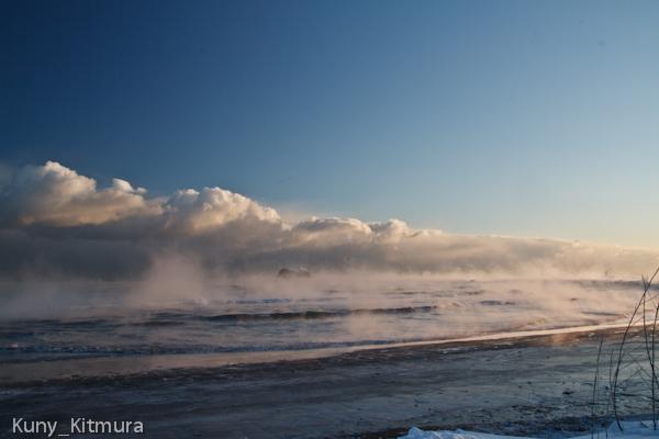 気嵐の海岸