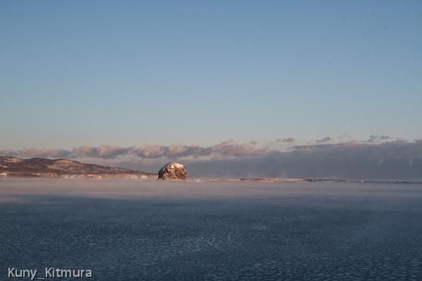 気嵐と湾内氷