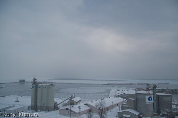 流氷接岸初日を発表