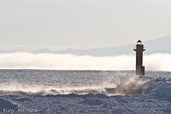 流氷と気嵐