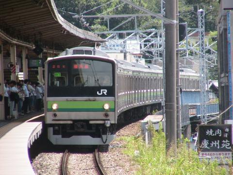 菊名駅進入