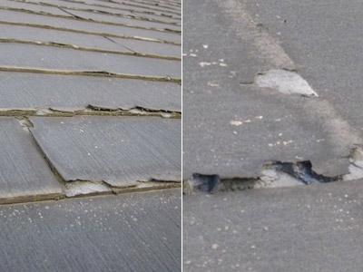 カラーベスト(平板スレート瓦)10年前後の屋根 |京都・滋賀リフォームするならフジ・ホーム