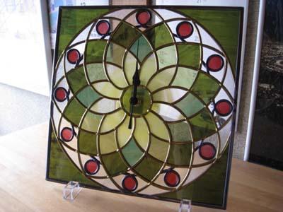 グラスアート時計1