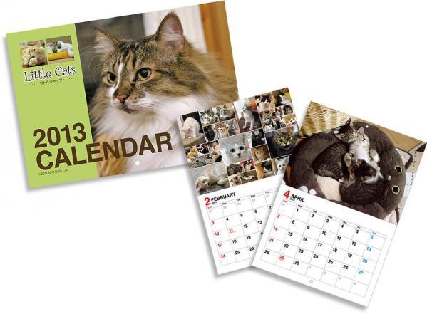 NPO法人リトルキャッツ2013カレンダーサンプル画像