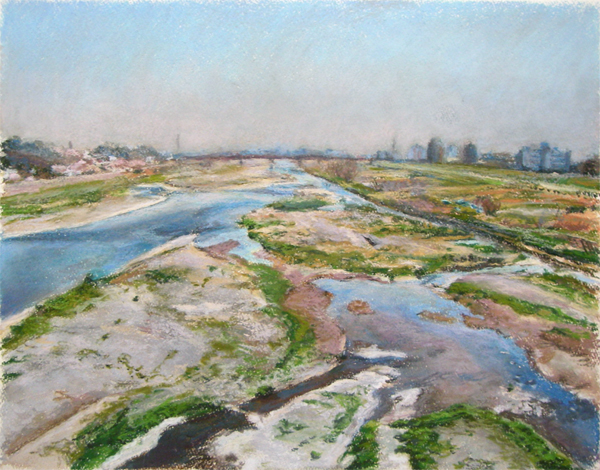 春の多摩川