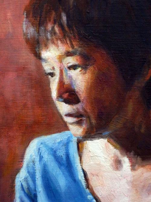 西日の中の肖像B(部分)