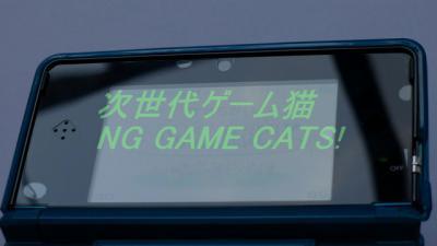 3DS用液晶保護シート『空気入らなシート3D』・上画面貼り付け直後