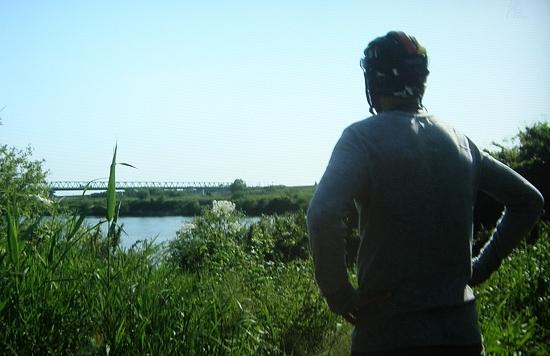 北上川の堤防