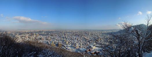 円山のパノラマ写真