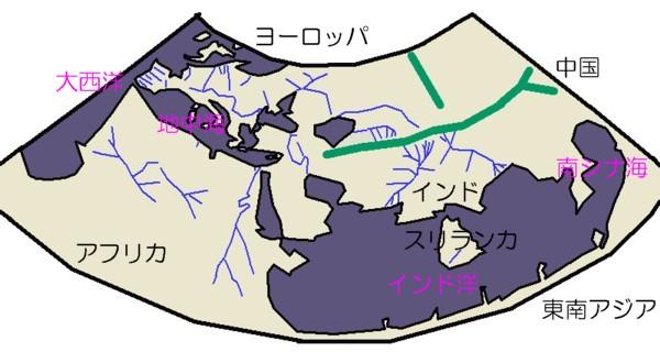 プトレマイオスの世界地図