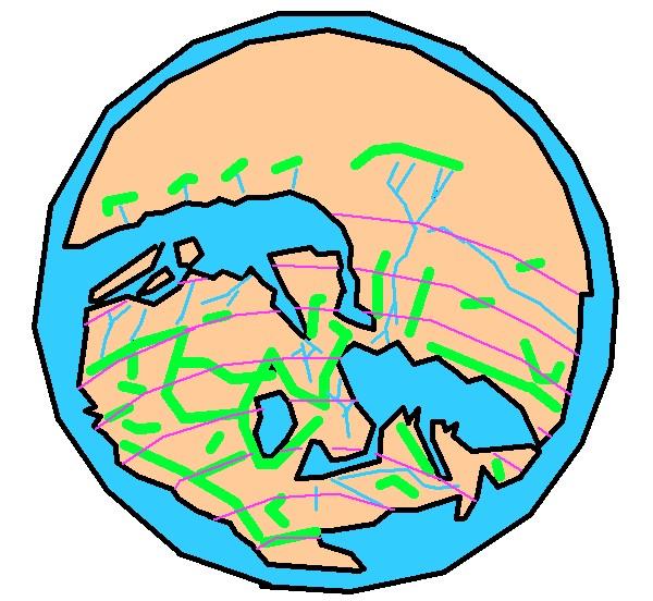 イドリースィーの世界地図
