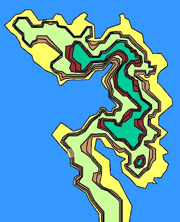 オーディン神殿地形図