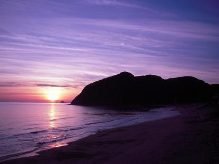 夜明けの水尻海岸