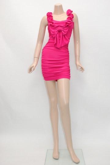 大人系 フリルキュート ショートドレス