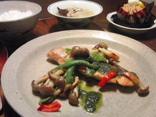 Oct13_鮭と野菜のソテー