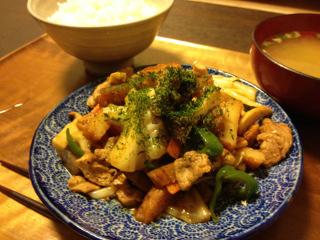 Nov10_豚肉と野菜の味噌炒め