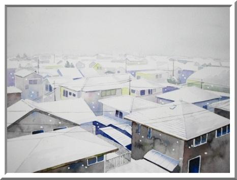 窓から眺めた雪景色