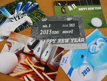 ゴルフ年賀状 2013
