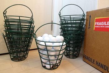 ゴルフレンジ ボールバスケット 金属 ワイヤー