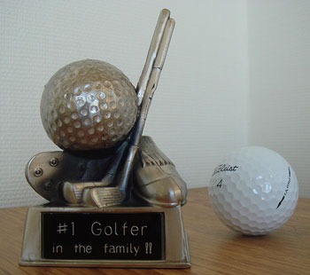 #1 Golfer ブロンズ・ミニ・トロフィ